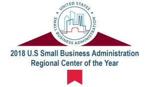 2018 US Small Business Administration Regional Center of the Year